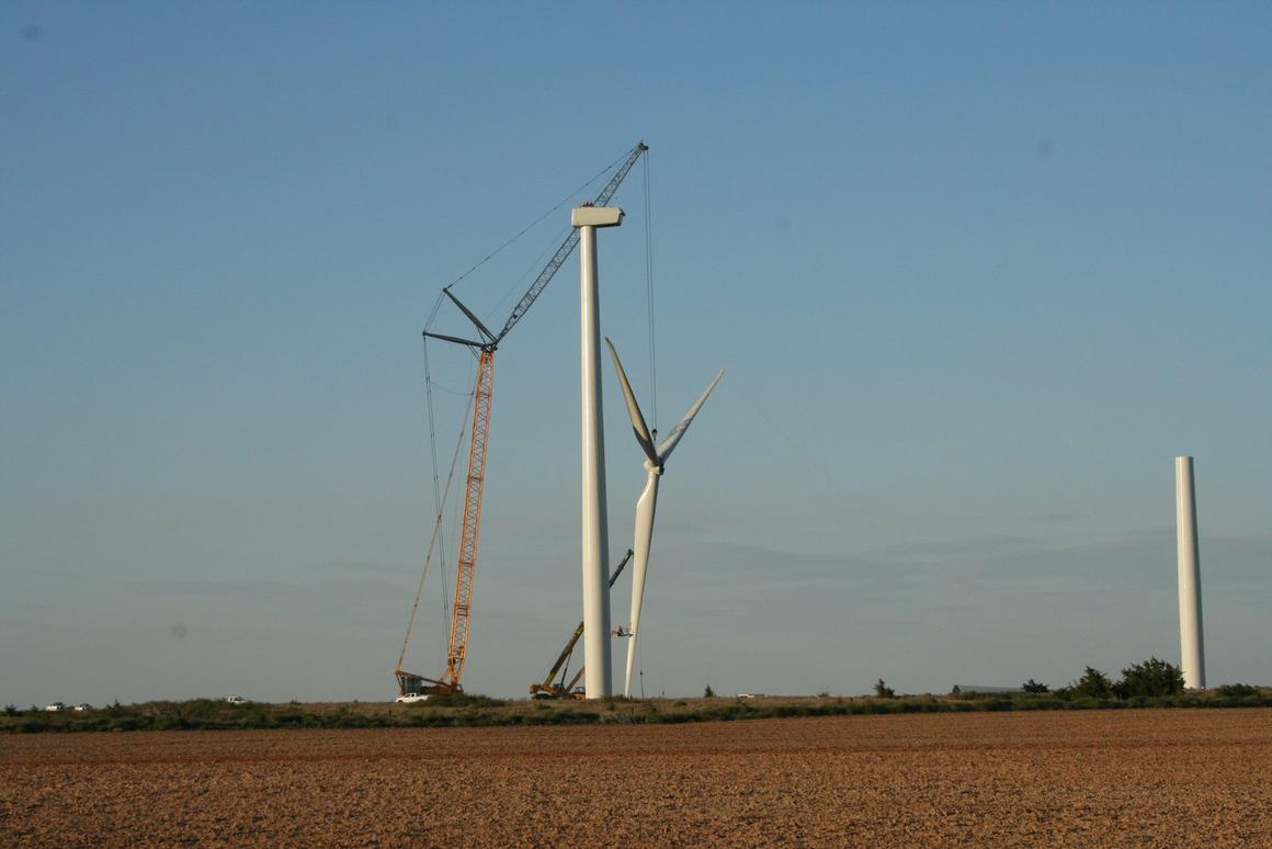 GERenewable Energy and Invenergy are building the largest wind farm in the United States (construction at theMcAdoo Wind Energy Center pictured)