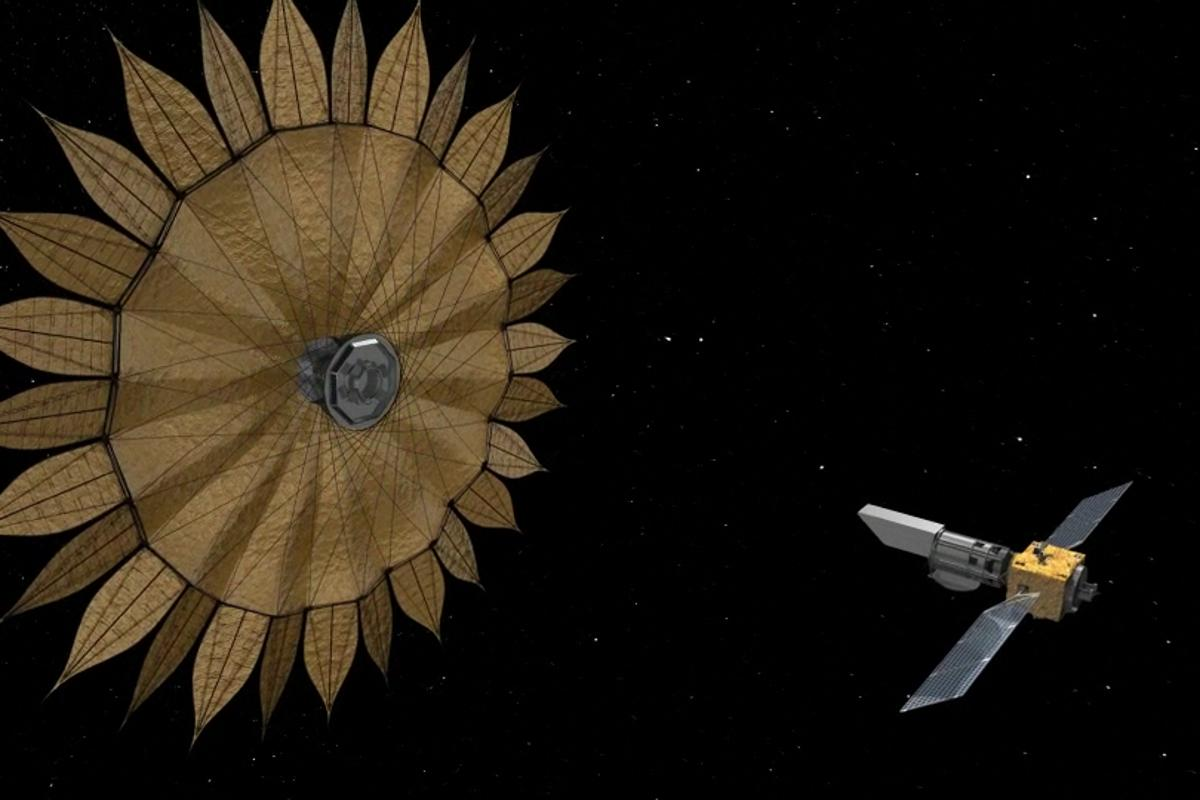 Starshade and its space telescope (Image: NASA)