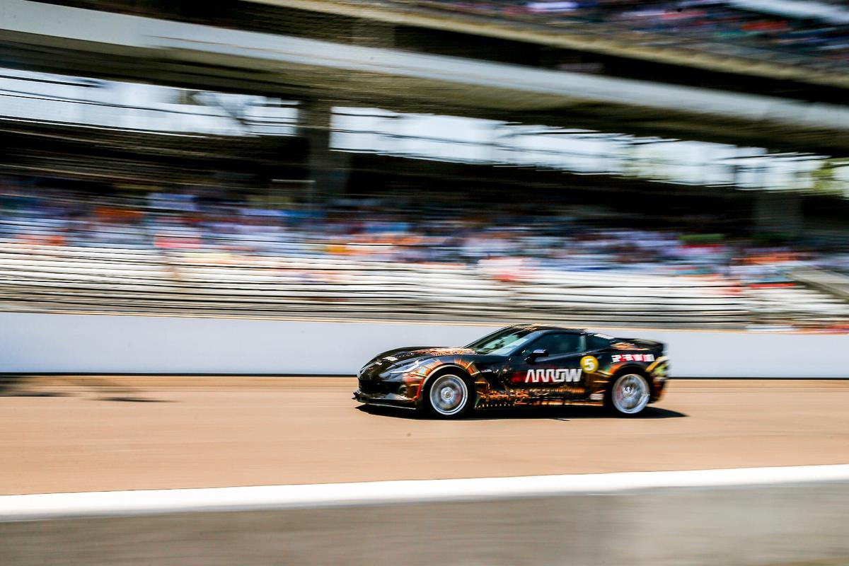 The Arrow Corvette on its way to 152 mph