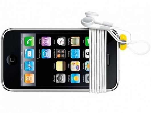 BudTrap works by sliding onto a universal earbud jack, allowing users to quickly and intuitively wrap their earbud cords around their music device or phone