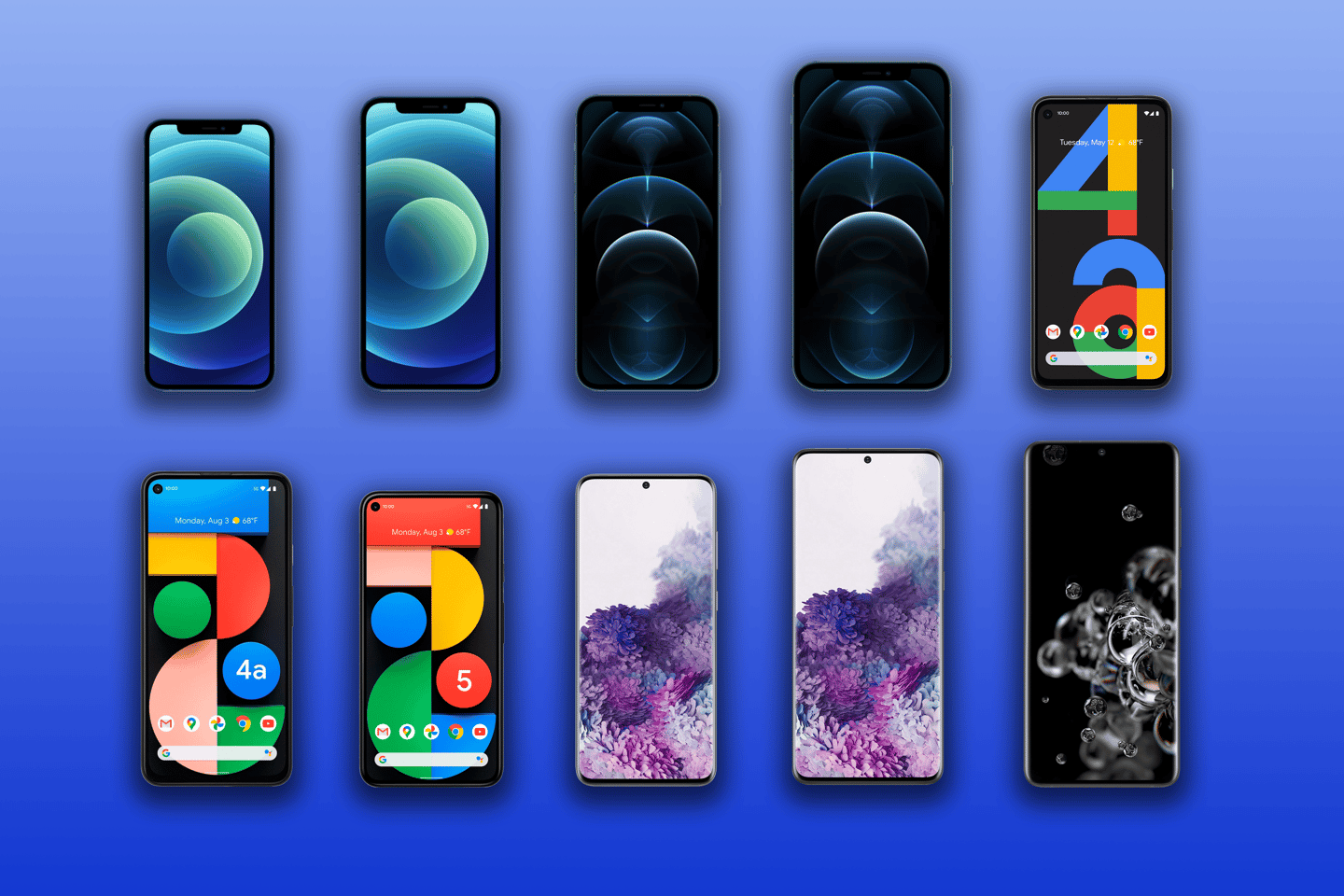 New Atlas compares the specs and features of 2020's biggest phones, including the iPhone 12 mini, iPhone 12, Pro and Pro Max, the Pixel 4a, Pixel 4a 5G and Pixel 5, and the Galaxy S20, S20+ and S20 Ultra