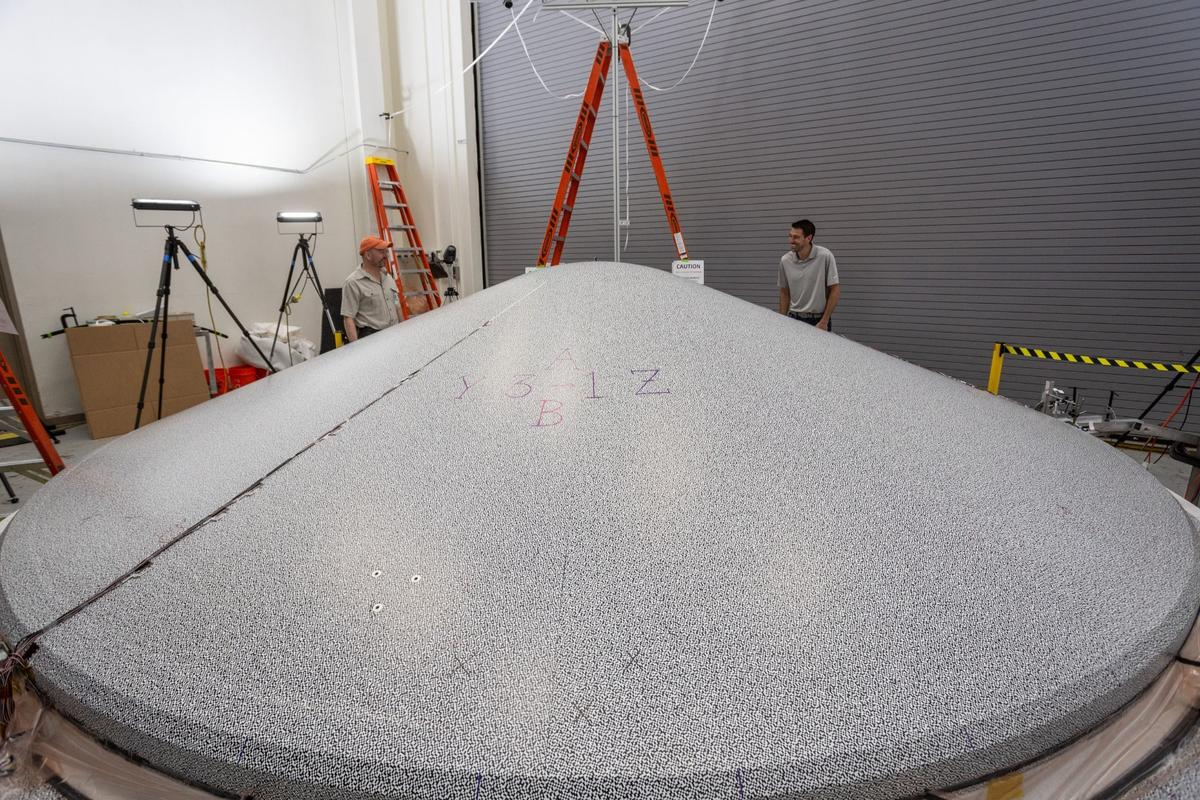 The new heat shield is one the largest ever built