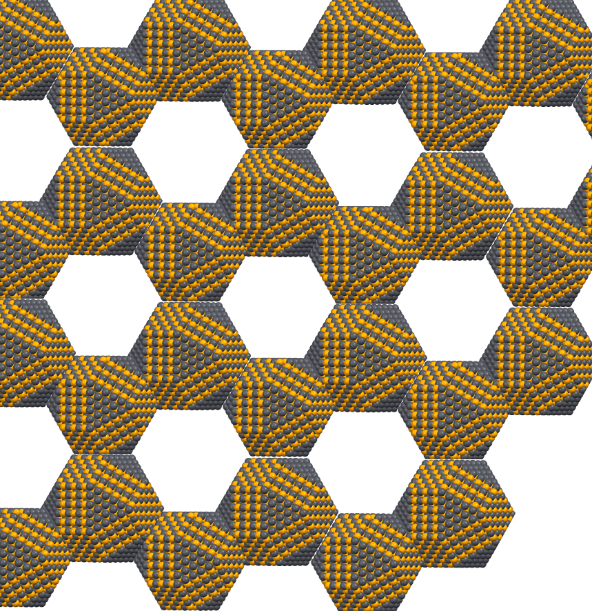 Instead of the usual carbon atoms, artificial graphene is made from crystals of traditional semiconductor materials