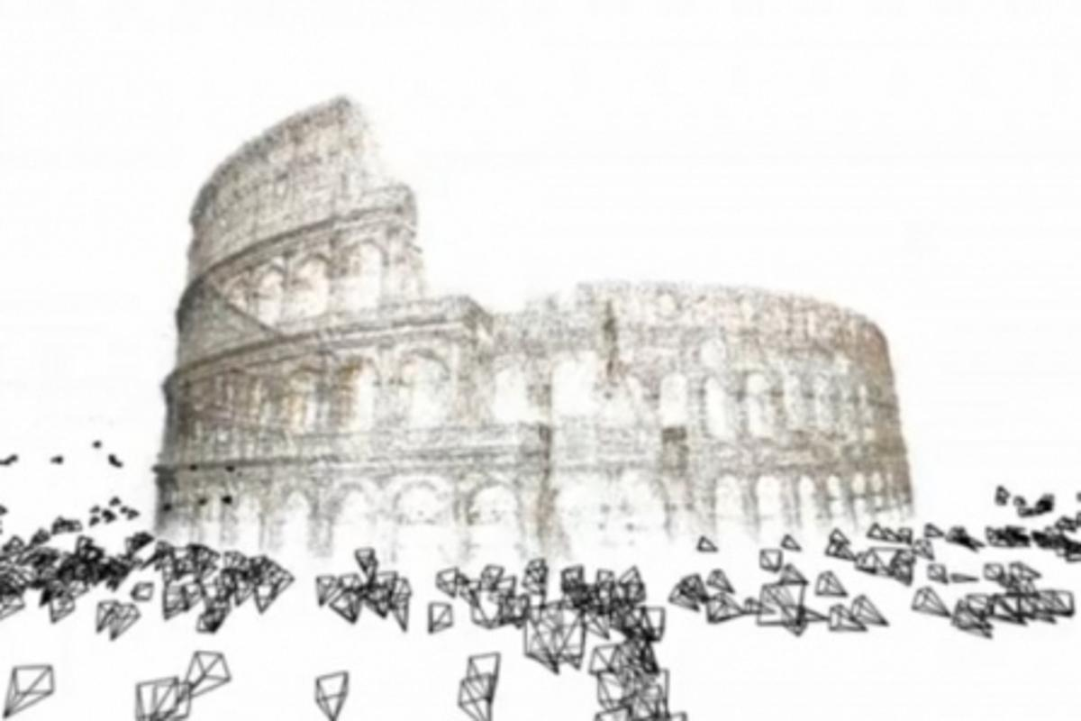 The Colosseum recreated from thousands of photographs on Flickr