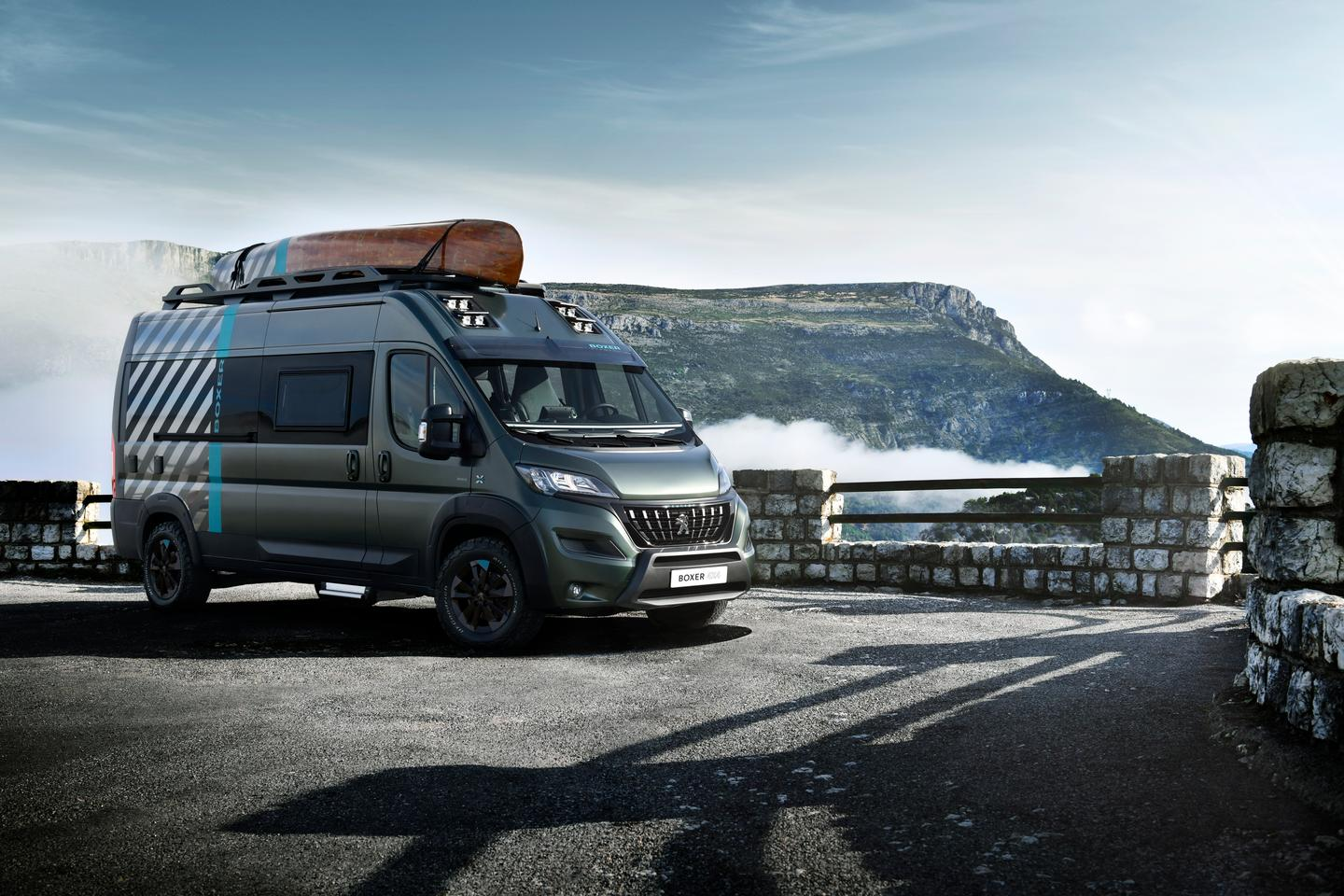 Weird paint: check. Superfluous sports gear: check. Off-road accessories: check. Yep, that's definitely a concept camper van developed by an automaker