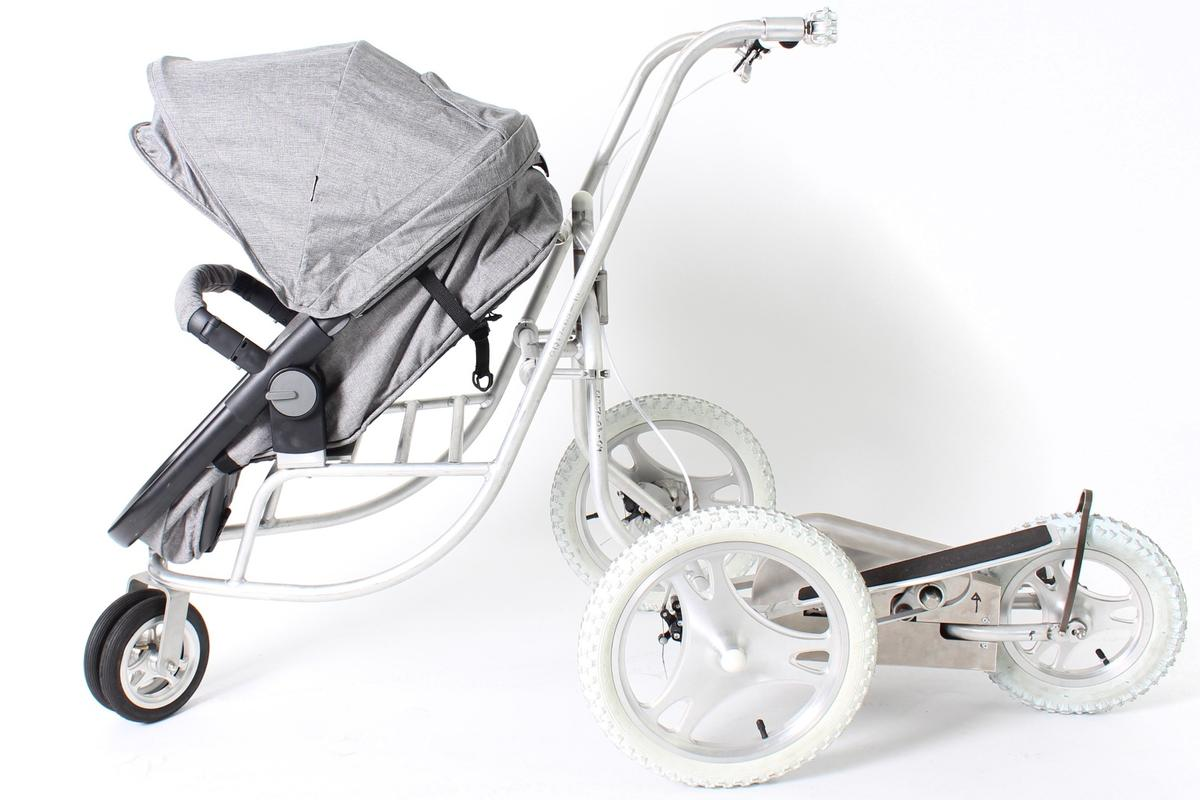 The Elliptical Stroller, ready to roll