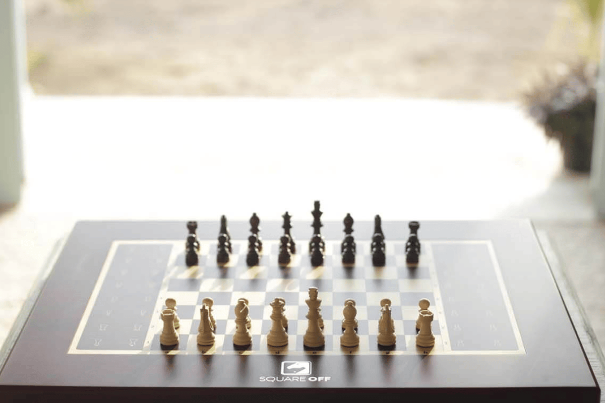 Square Off is an all-in-one automated chessboard which lets users play against anyone in the world