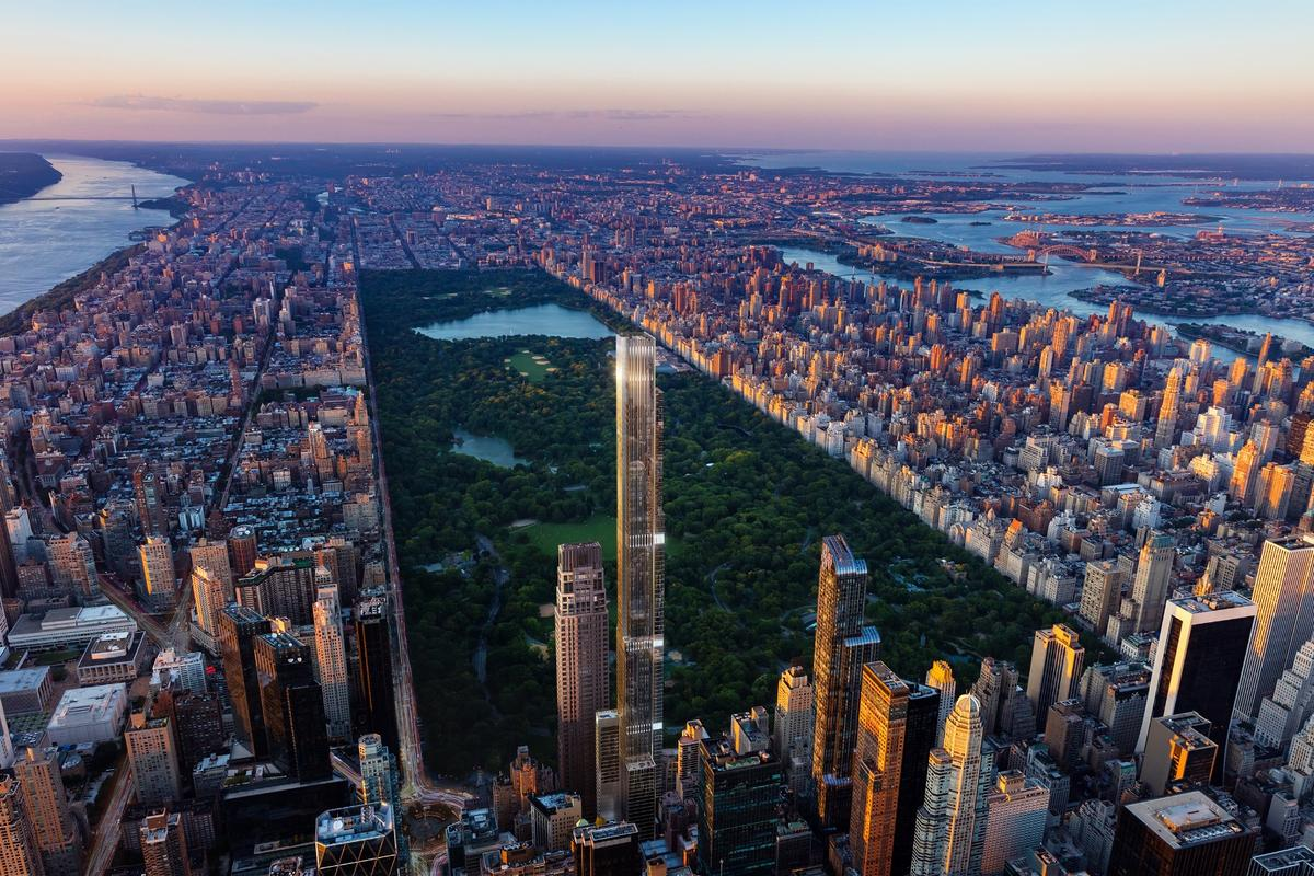 Roomwith a view:Central Park Tower's plush apartments will offer choice views over New York'sCentral Park