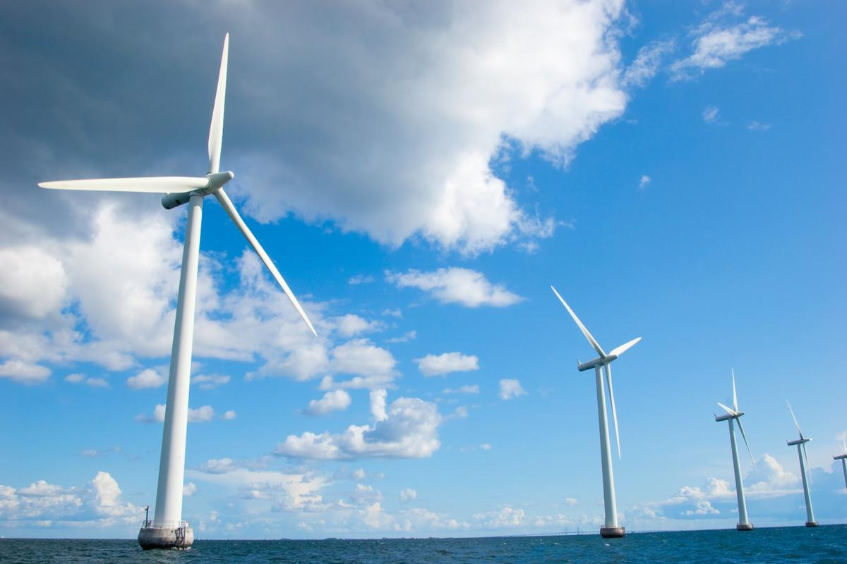 Offshore wind turbines in Denmark - Hitachi is developing a new downwind design to make the most of light offshore breezes