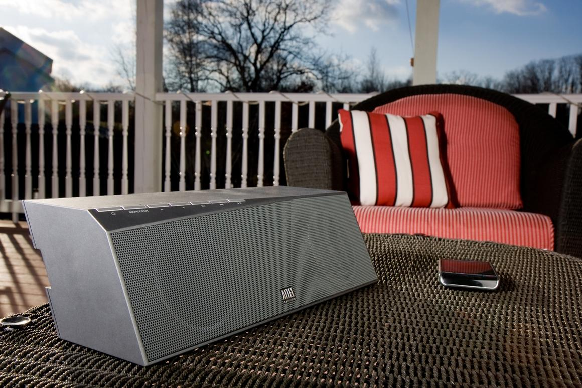 Party on the patio with the inMotion Air universal wireless speaker from Altec Lansing