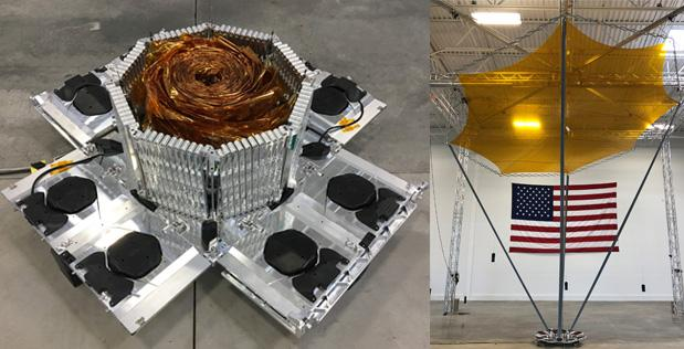 The DARPA membrane reflect-array antenna Rocket Lab will be launching into space