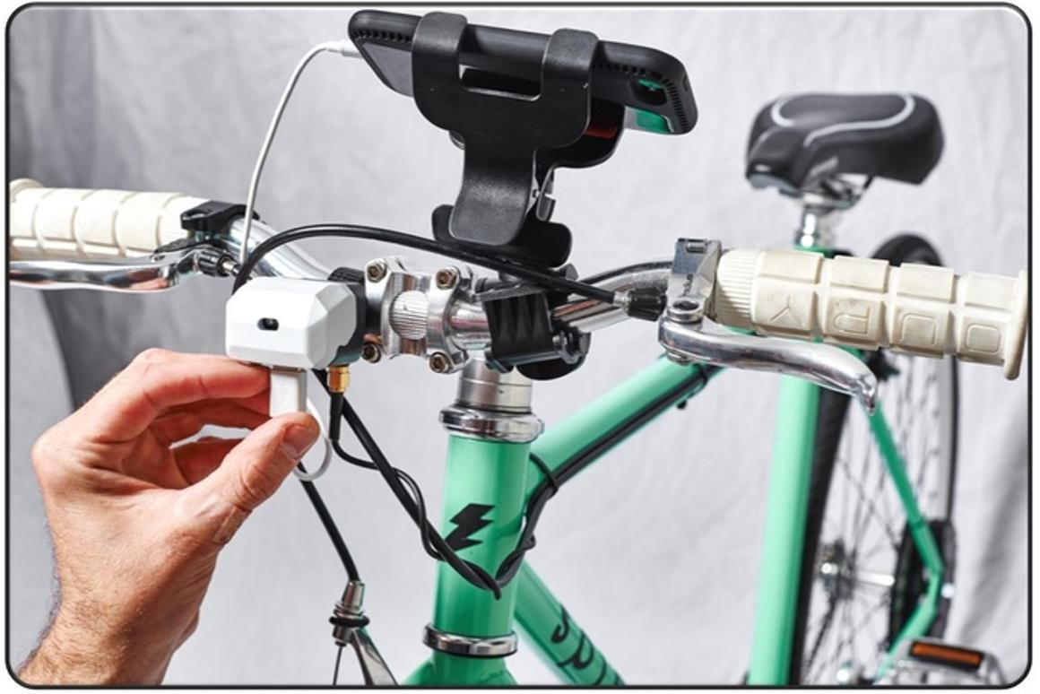 According to Spinetics, CydeKick Pro will not just run a headlight and charge your phone, but also stores a reserve of power