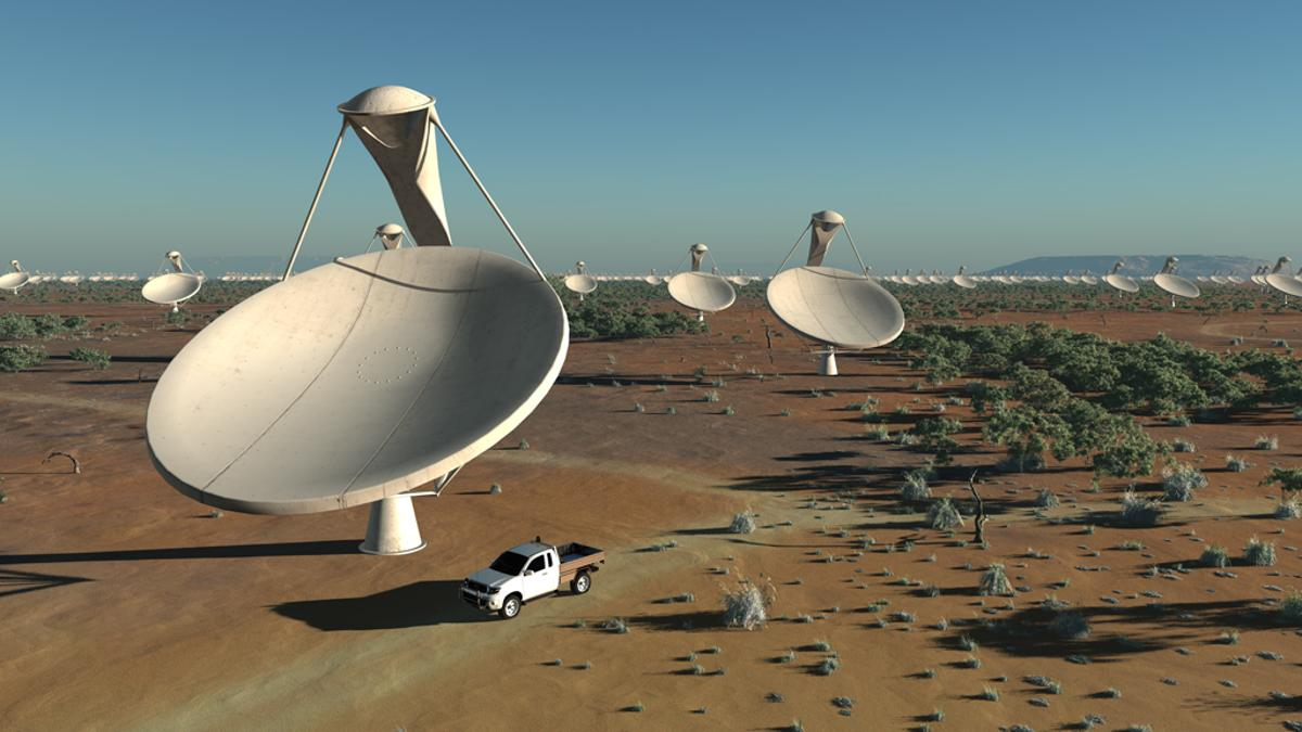 The Square Kilometer Array (SKA) will be shared between Australia and South Africa (Image: SKA Organisation/Swinburne Astronomy Productions)