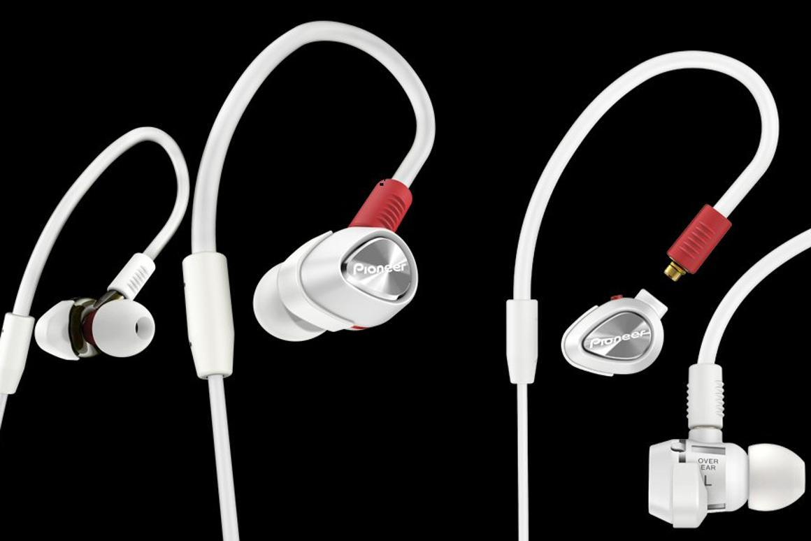 Pioneer's DJE-2000 (left) and DJE-1500 (right) inner-ear headphones for DJs