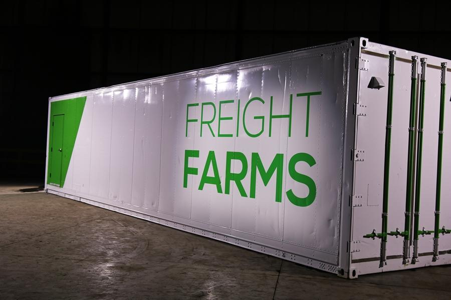 Freight Farms is one of a number of companies offering shipping containers set up as self-contained farms
