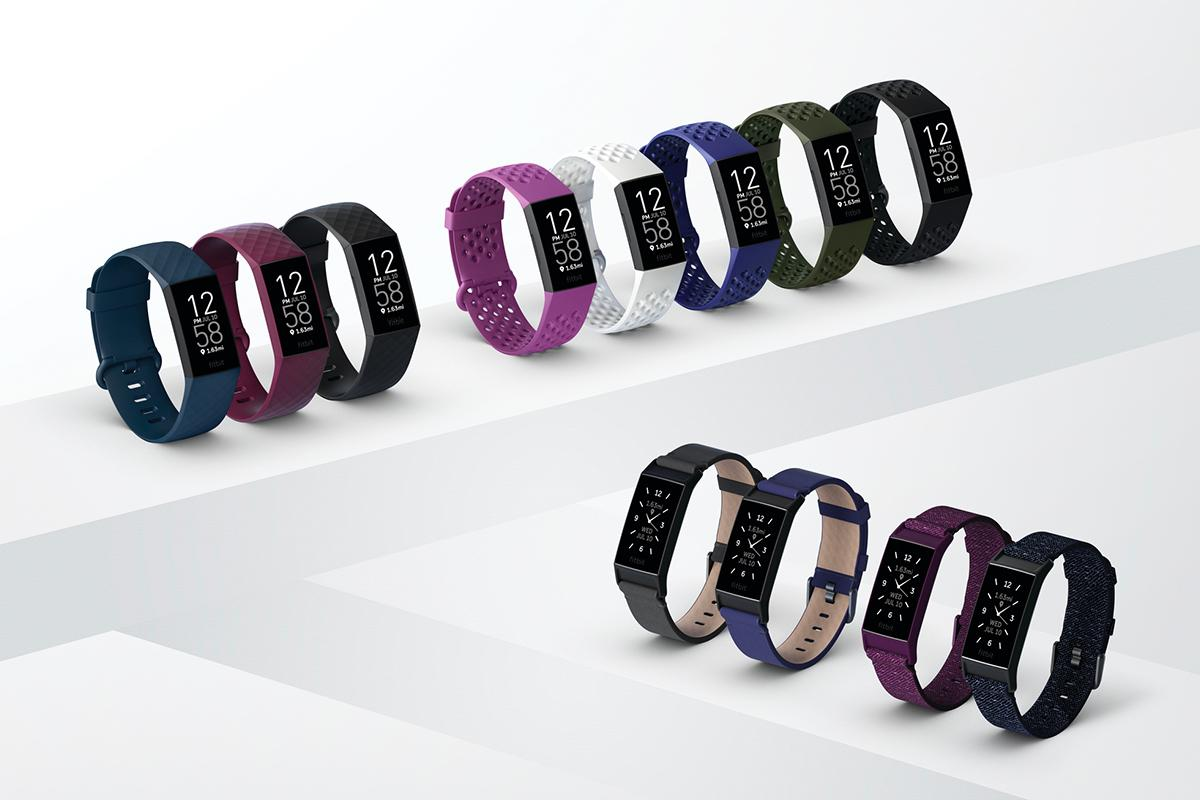 The Fitbit Charge 4 is available in three main colors, with some special edition options