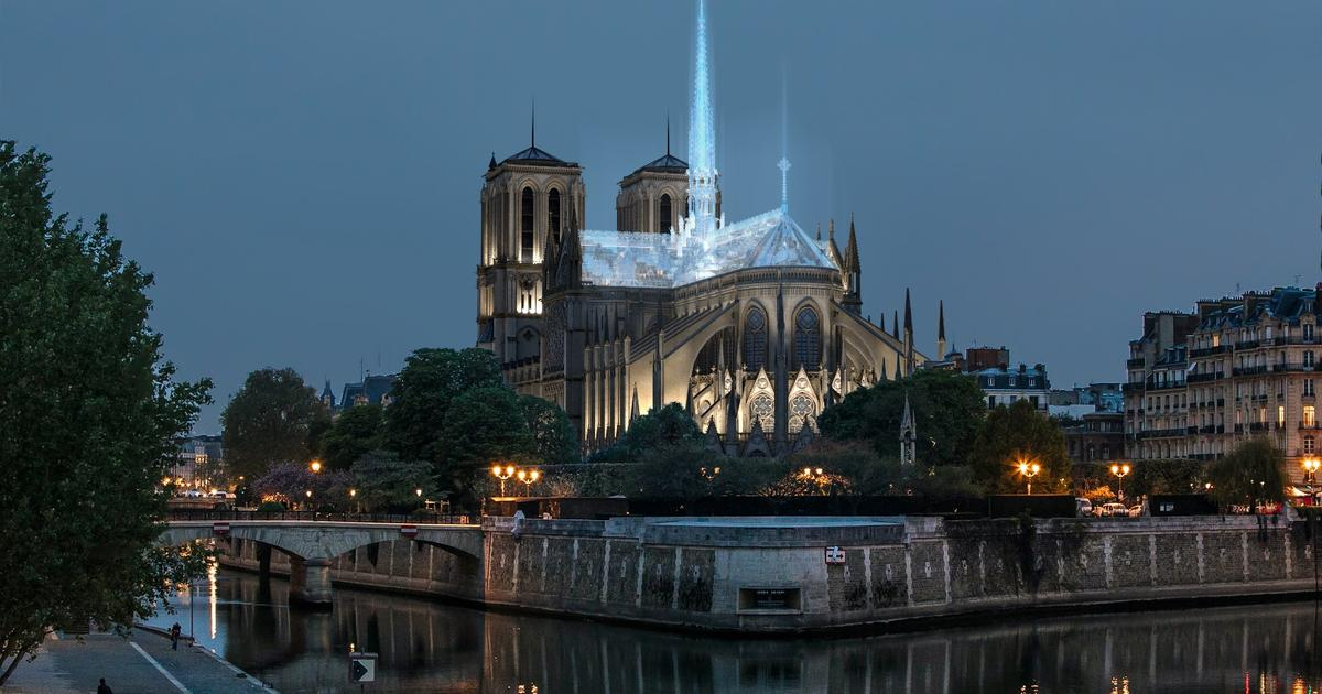 Apple Store designer envisions rebuilding Notre-Dame using glass