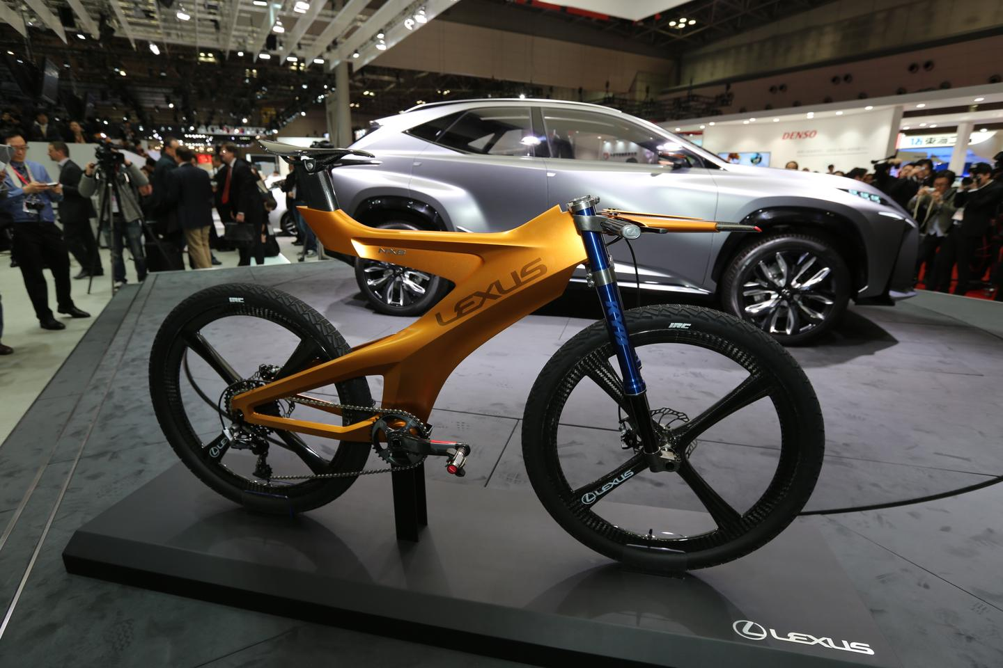 The NXB on display with the LF-NX crossover concept vehicle