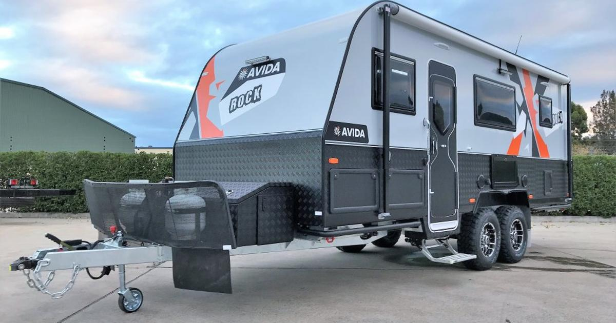 Solar-powered off-road caravan comfortably shelters a large family on outback adventures