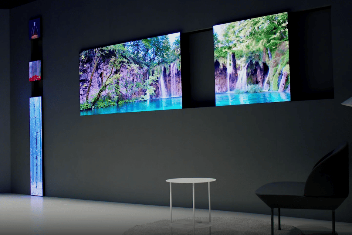 Samsung experiments with weird-shaped TVsthanks to its modular Micro LED display technology