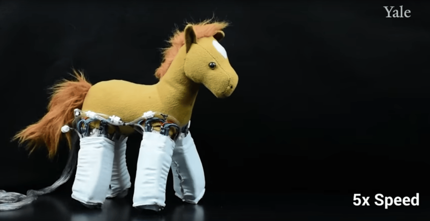 Robotic skins can be wrapped around everyday objects, like stuffed animals, to make them move