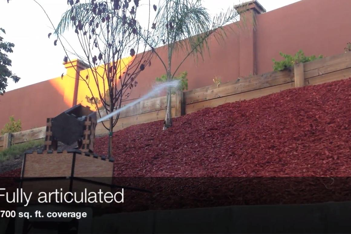 Droplet works by selectively watering the plants in your garden