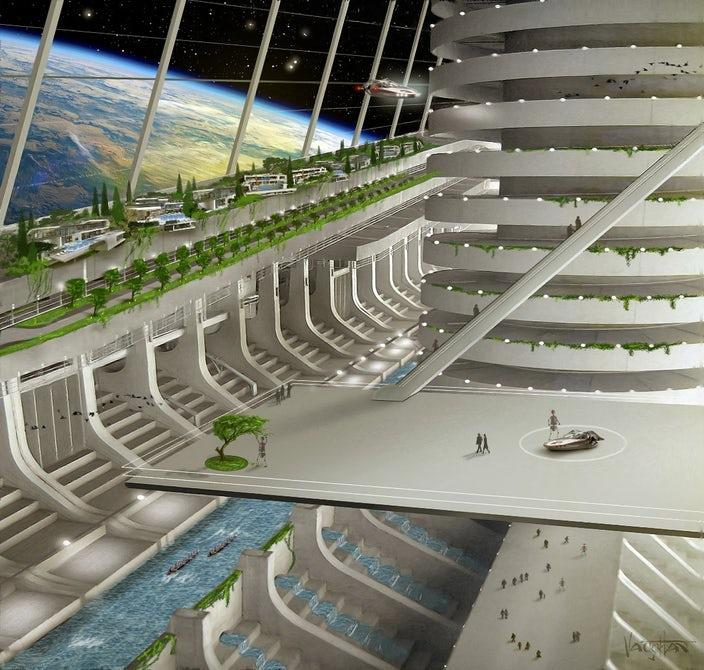 An extremely ambitious concept for what Asgardia might eventually look like
