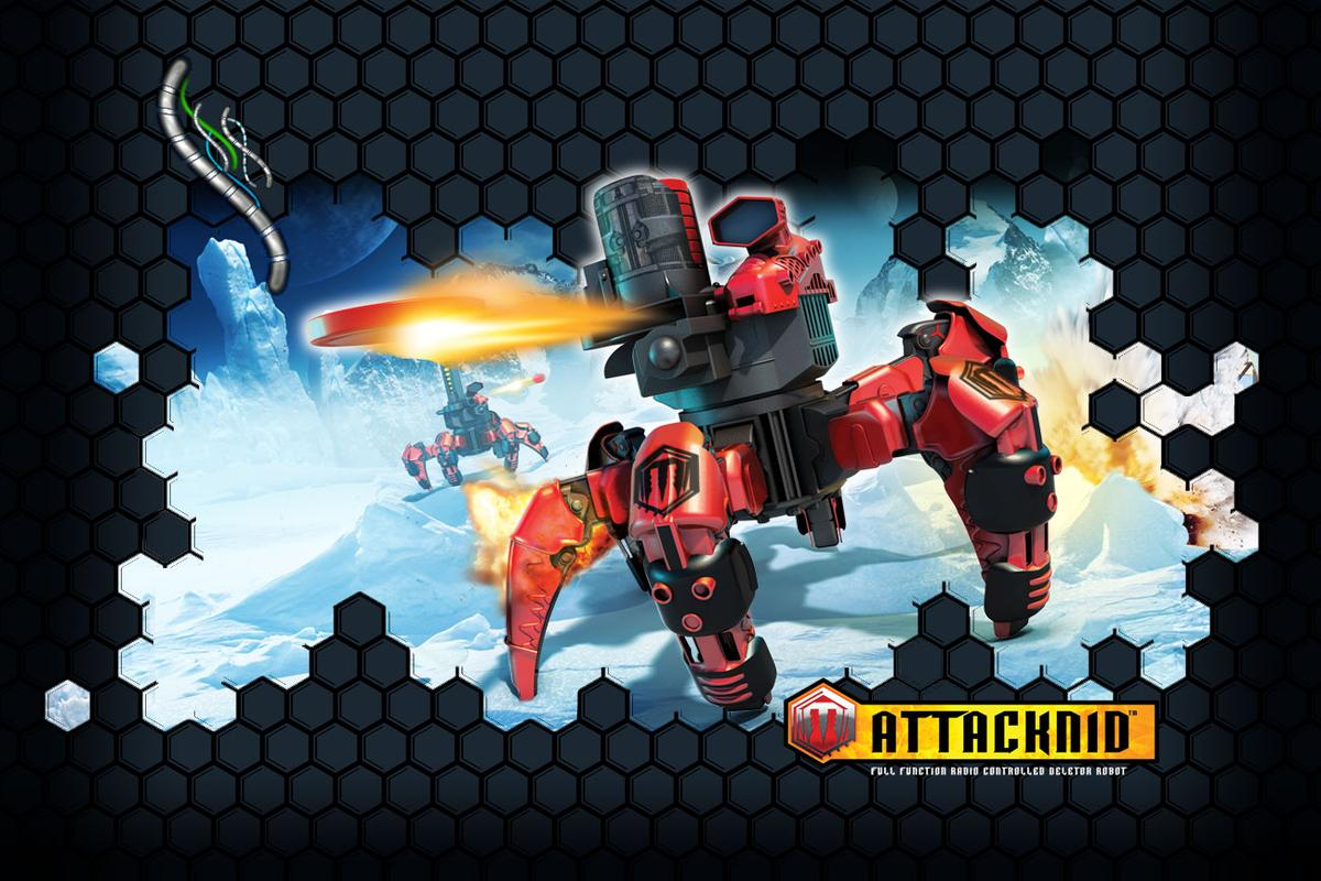 Wow! Stuff has launched it's Combat Creatures robot toy line just in time for the holidays, starting with the Attacknid