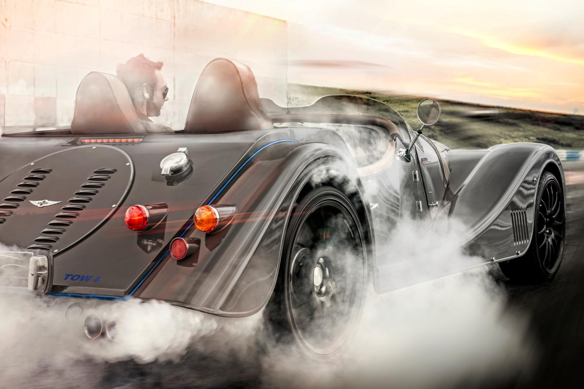 The Morgan Plus 8 Speedster does 0 to 62 mph (100 km/h) in 4.2 seconds