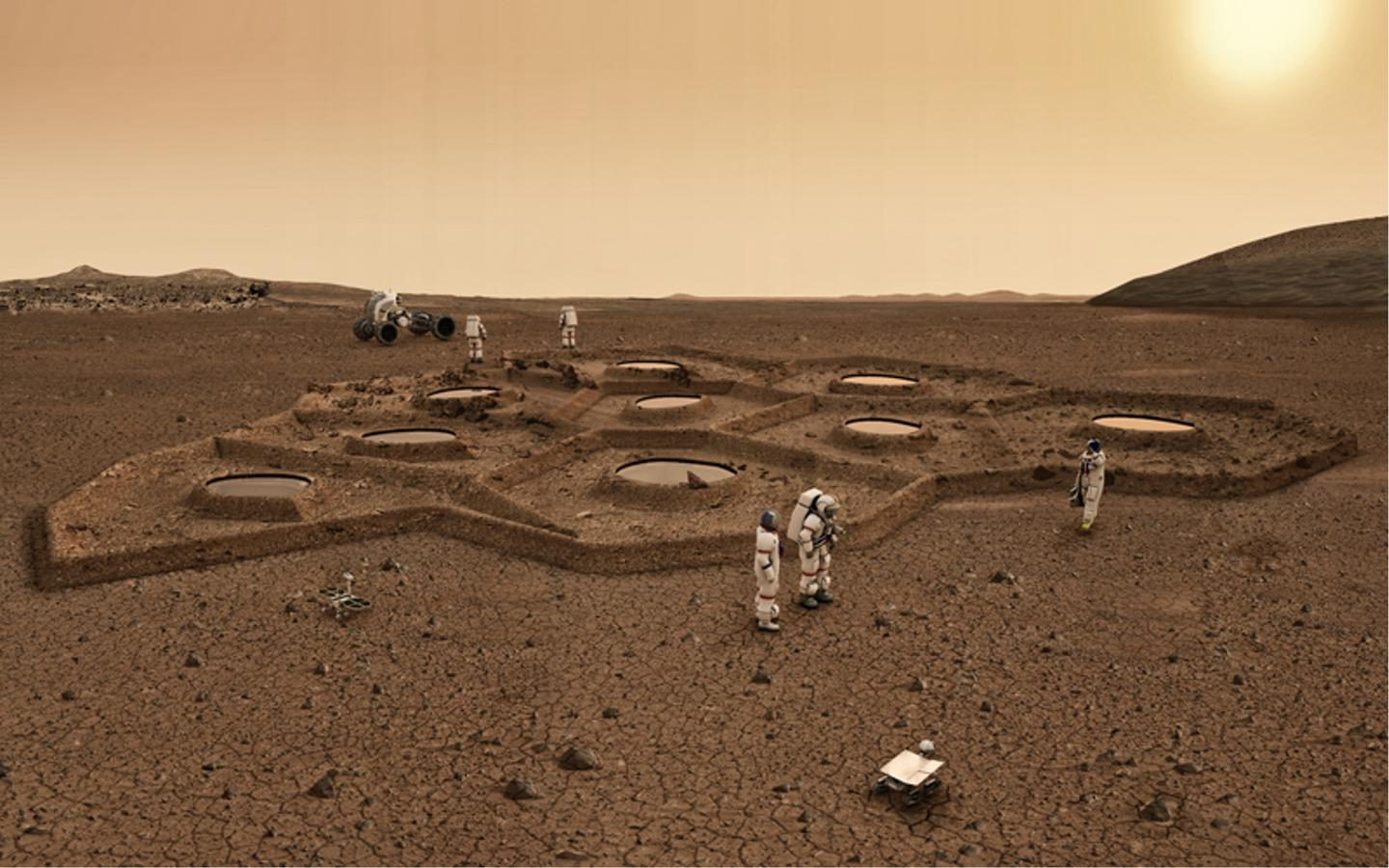 The Martian colony would be underground