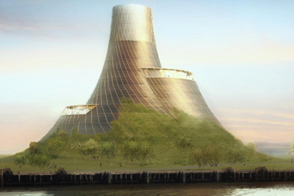 The Teeside Biomass Power Station will 'rise' out of the landscape and will be covered with local grasses