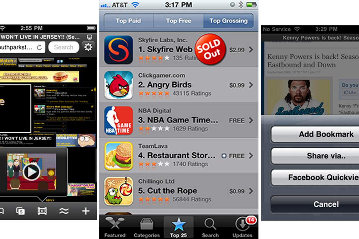 "Skyfire 2.0 for iPhone ""sold out"" in just five hours"