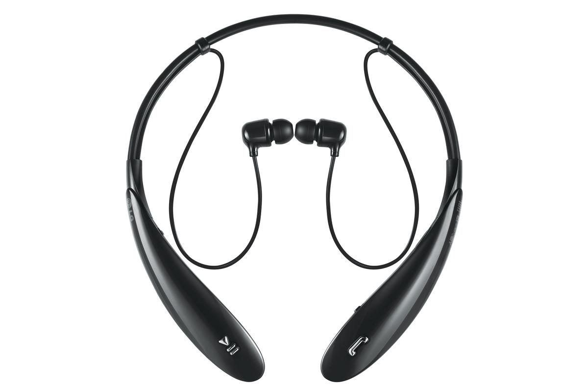 The around-the-neck design of the new LG Tone Ultra Bluetooth headphones