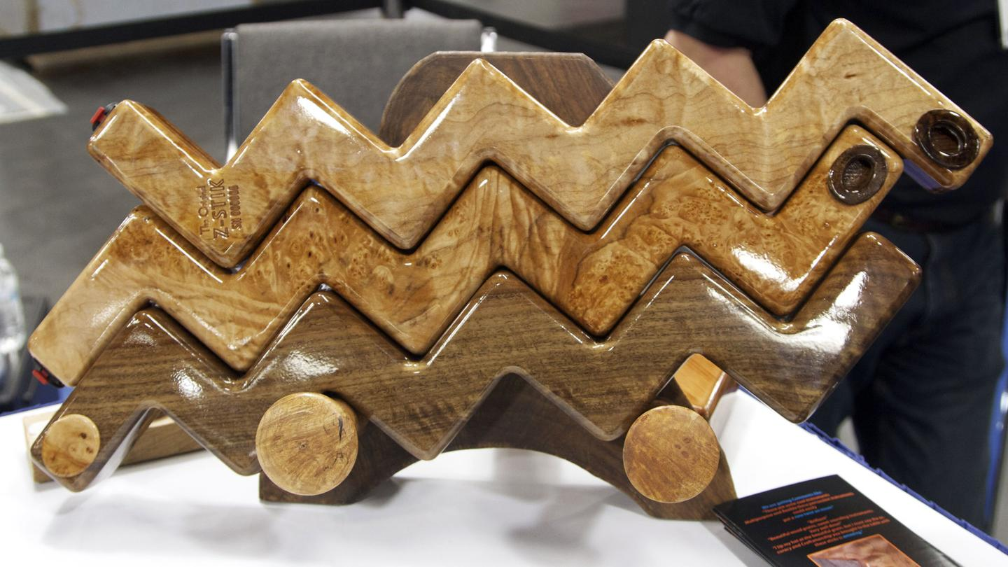 Z-Stiks come in a variety of woods, each with a different timbre (Photo: Gizmag)