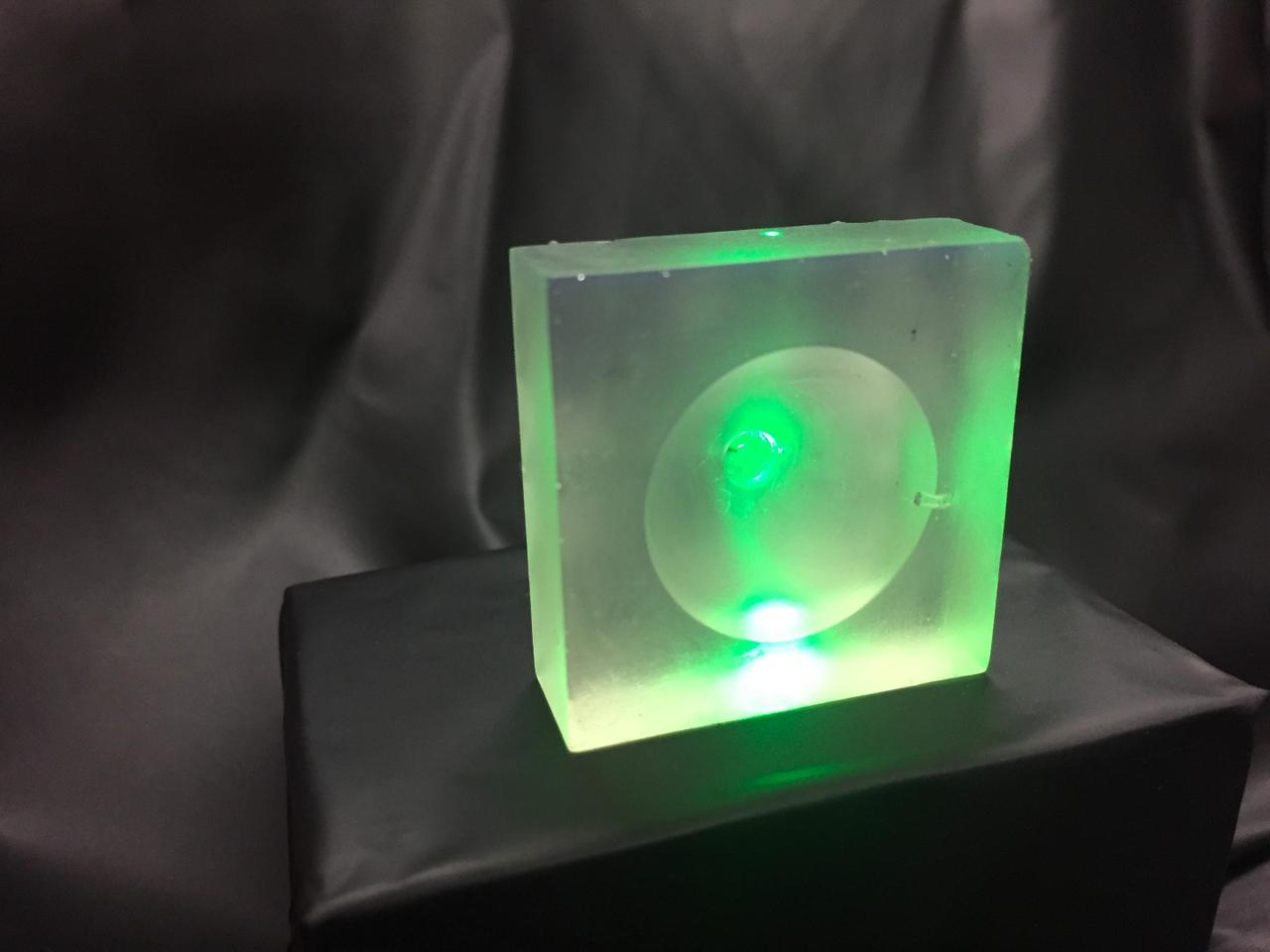 Nanyang Technological University's proof-of-concept model of the transducer lens