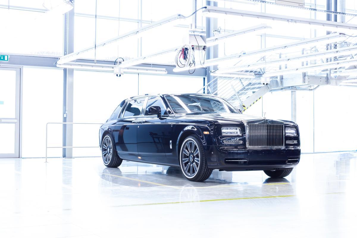 The last Rolls-Royce Phantom VIIto roll off the production line