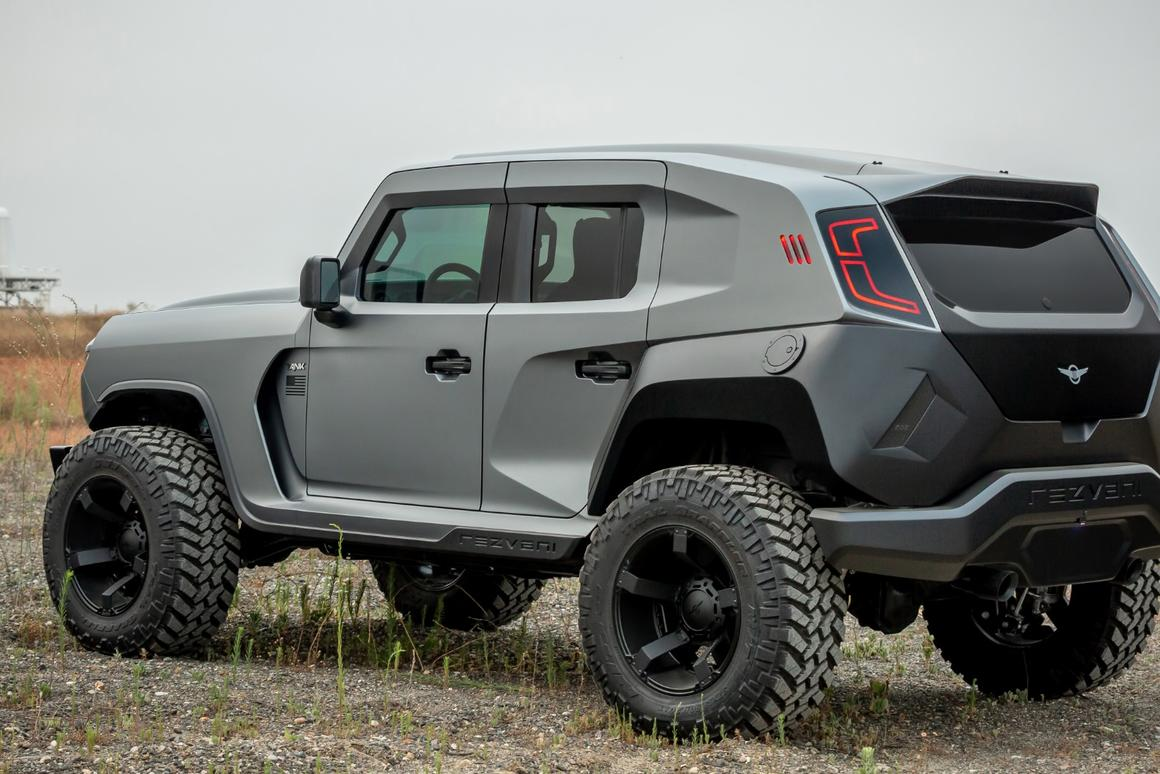 More than 1,000 hp makes the Rezvani Tank X the world's first hyper-SUV