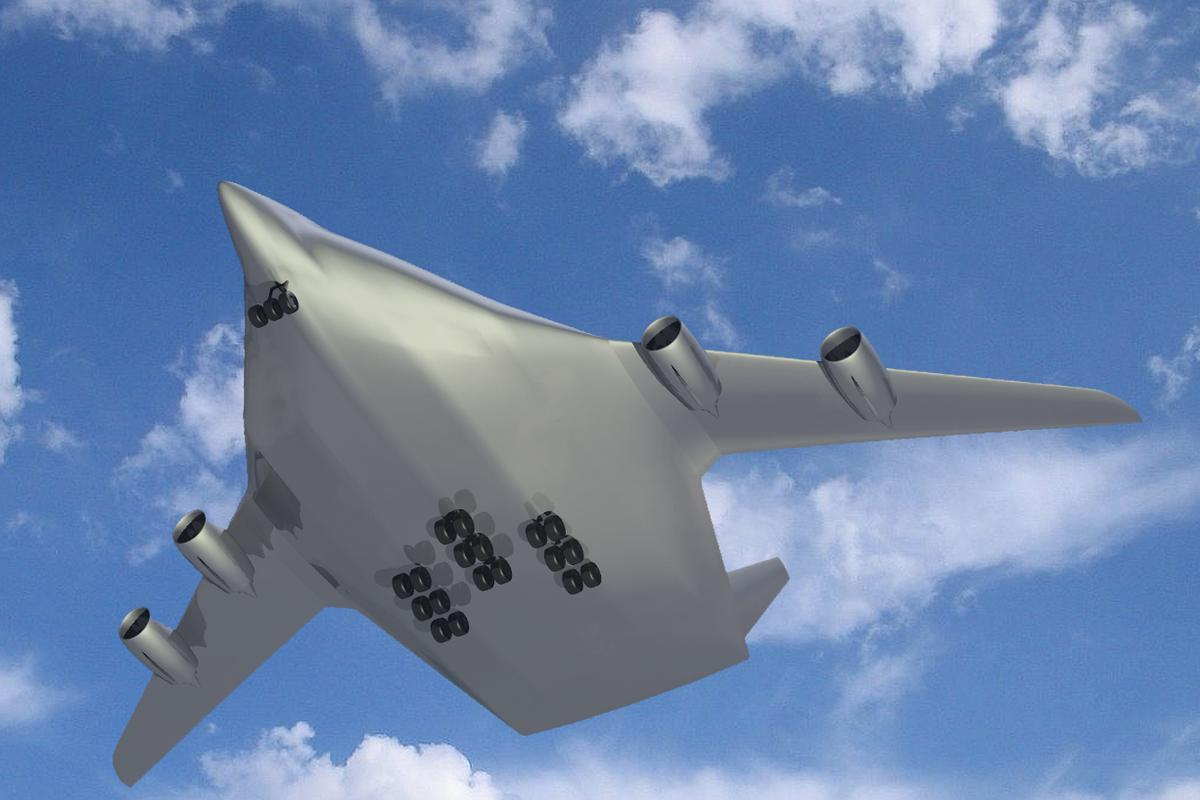 The flying wing configuration simulated by ATTAS as part of the NACRE project (Image: DLR/NACRE)