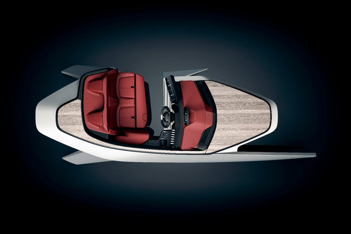 Peugeot/Benetau Sea Drive concept: a sideless, bottomless boat concept? Wait a minute
