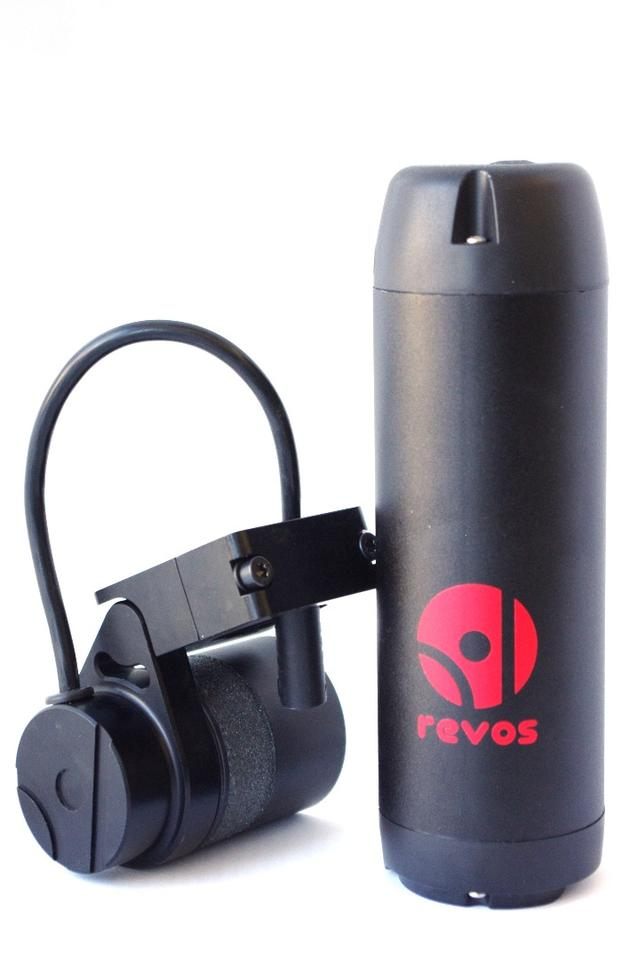 The Revos add-on e-bike kit comes with either a 100 Wh Li-ion battery or a 209 Wh battery