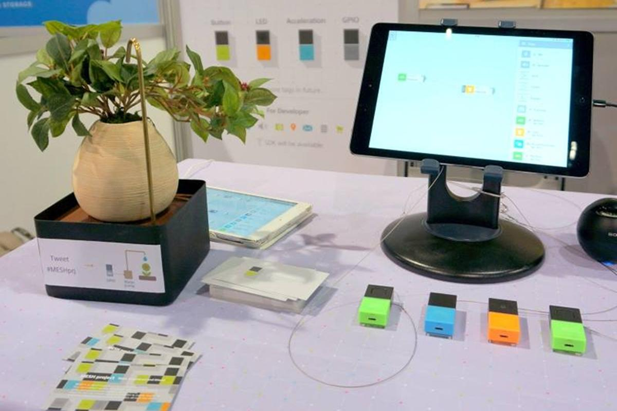 MESH combines a series of smart tags with an iPad app