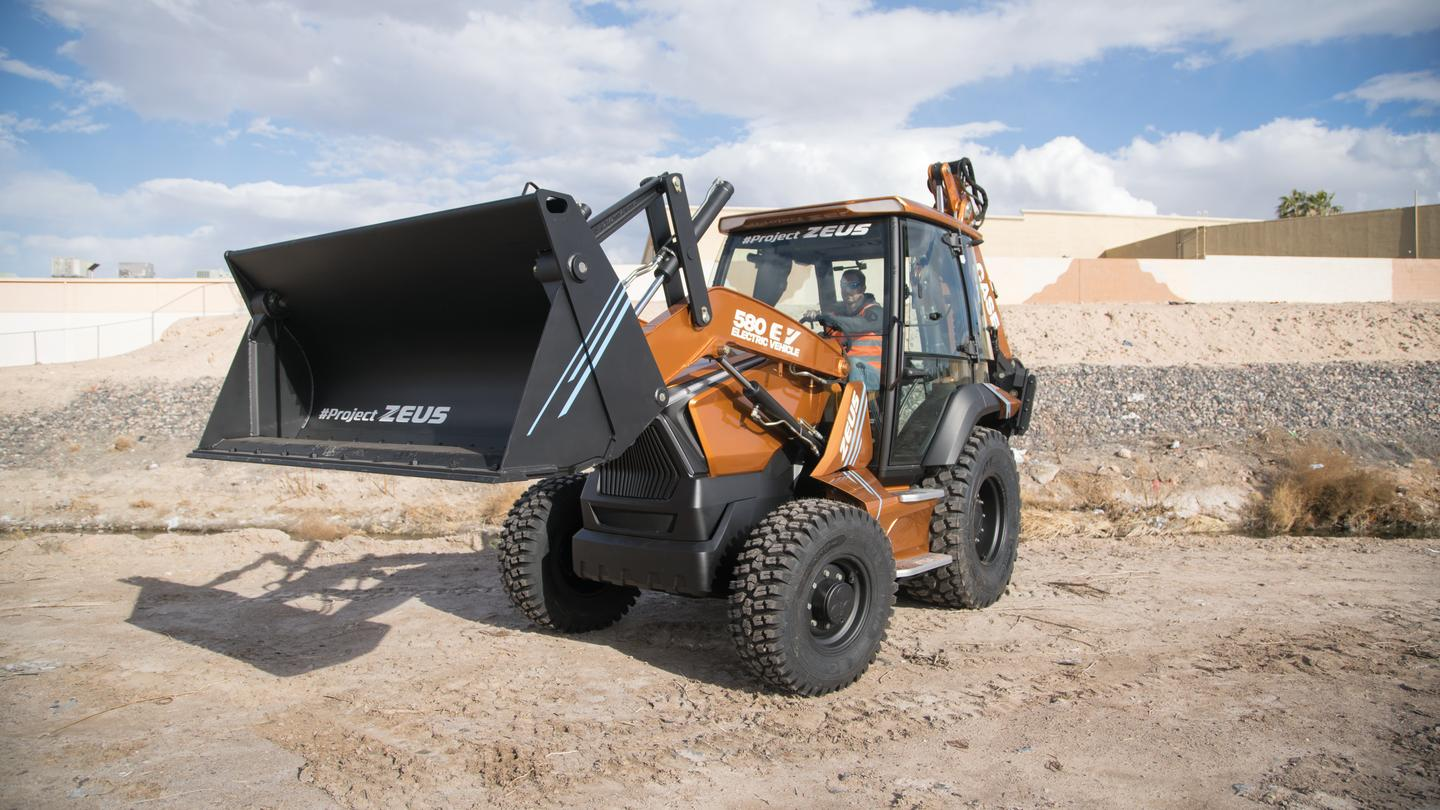Called Project Zeus, the backhoe is Case's first fully electric vehicle