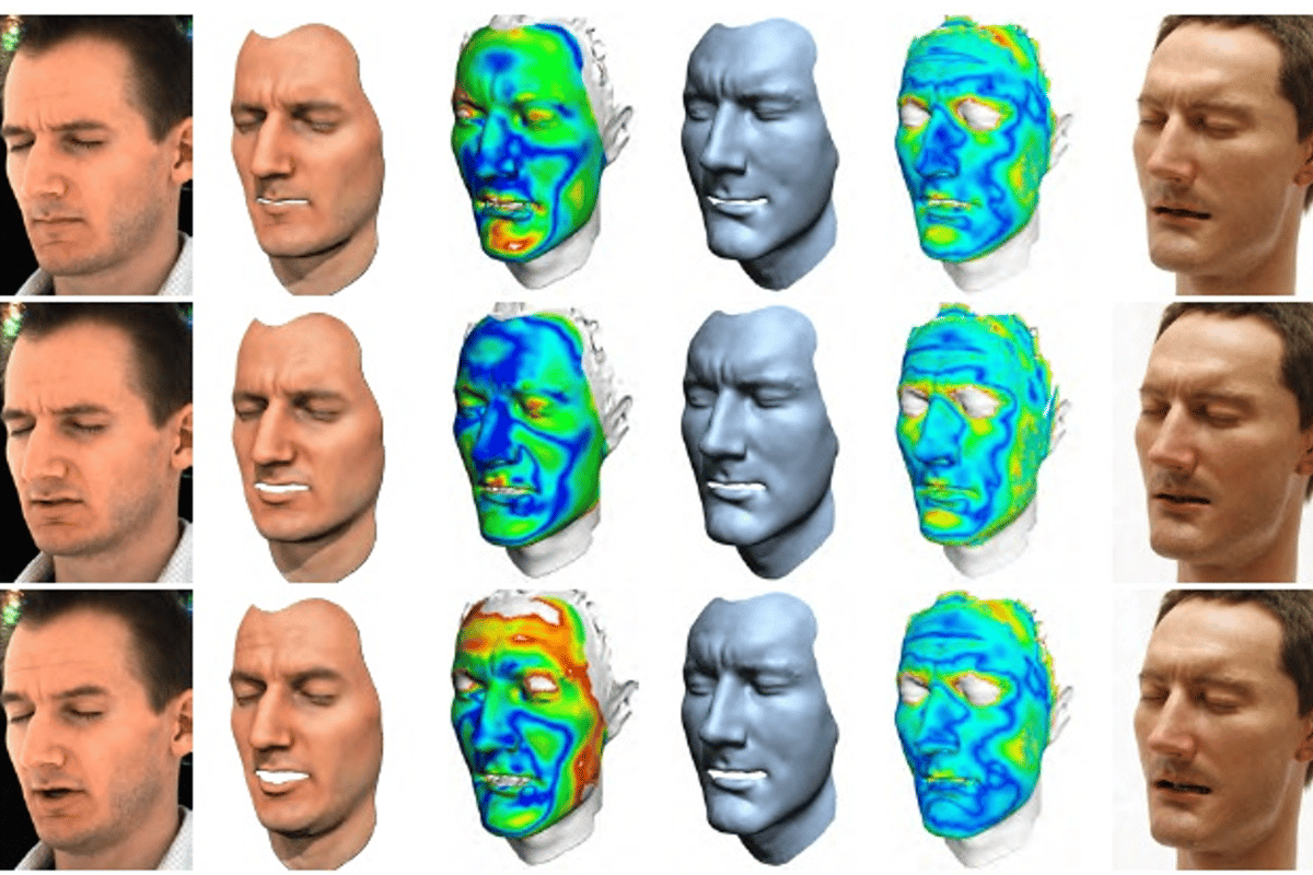 Face cloning: steps in modeling the digital face and the final result in silicone (Image: Disney)