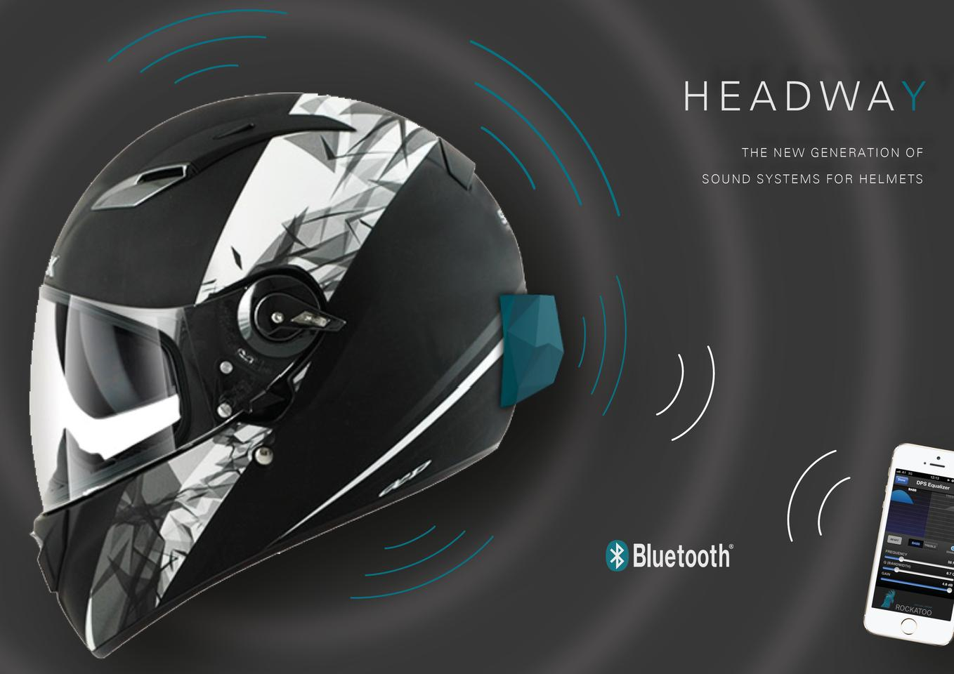 Headway is a new device that turns a helmet into a wearable speaker