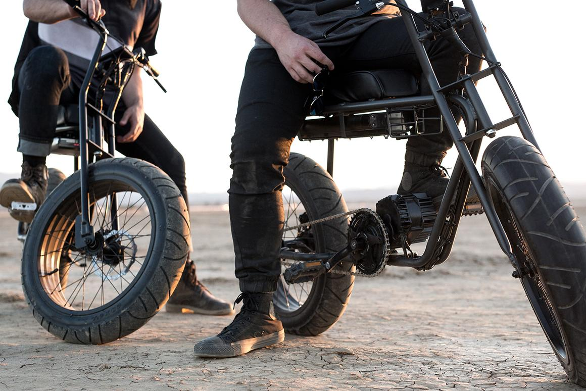 The Super 73 is designed for both on- and off-road use