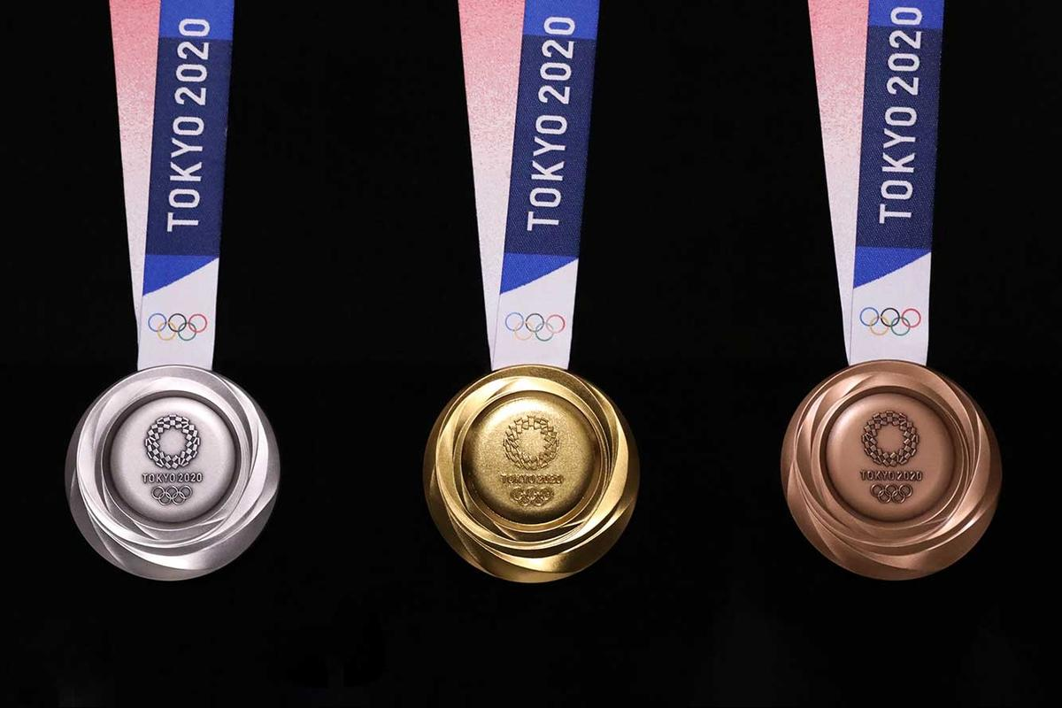 100 percent of the medals used for the Tokyo 2020 Olympic games will be made with recycled metals from discarded gadgets
