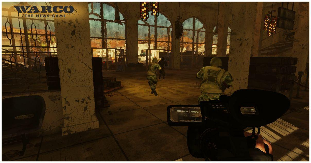 Warco - The News Game is a planned FPS-style game where the player takes on the role of a war correspondent tasked with collecting video from the battlefield