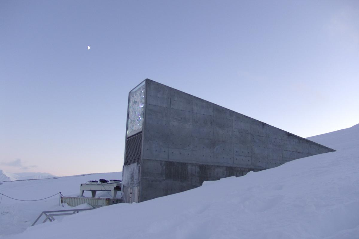 The Svalbard Global Seed Vault sits around halfway between Norway and the North Pole