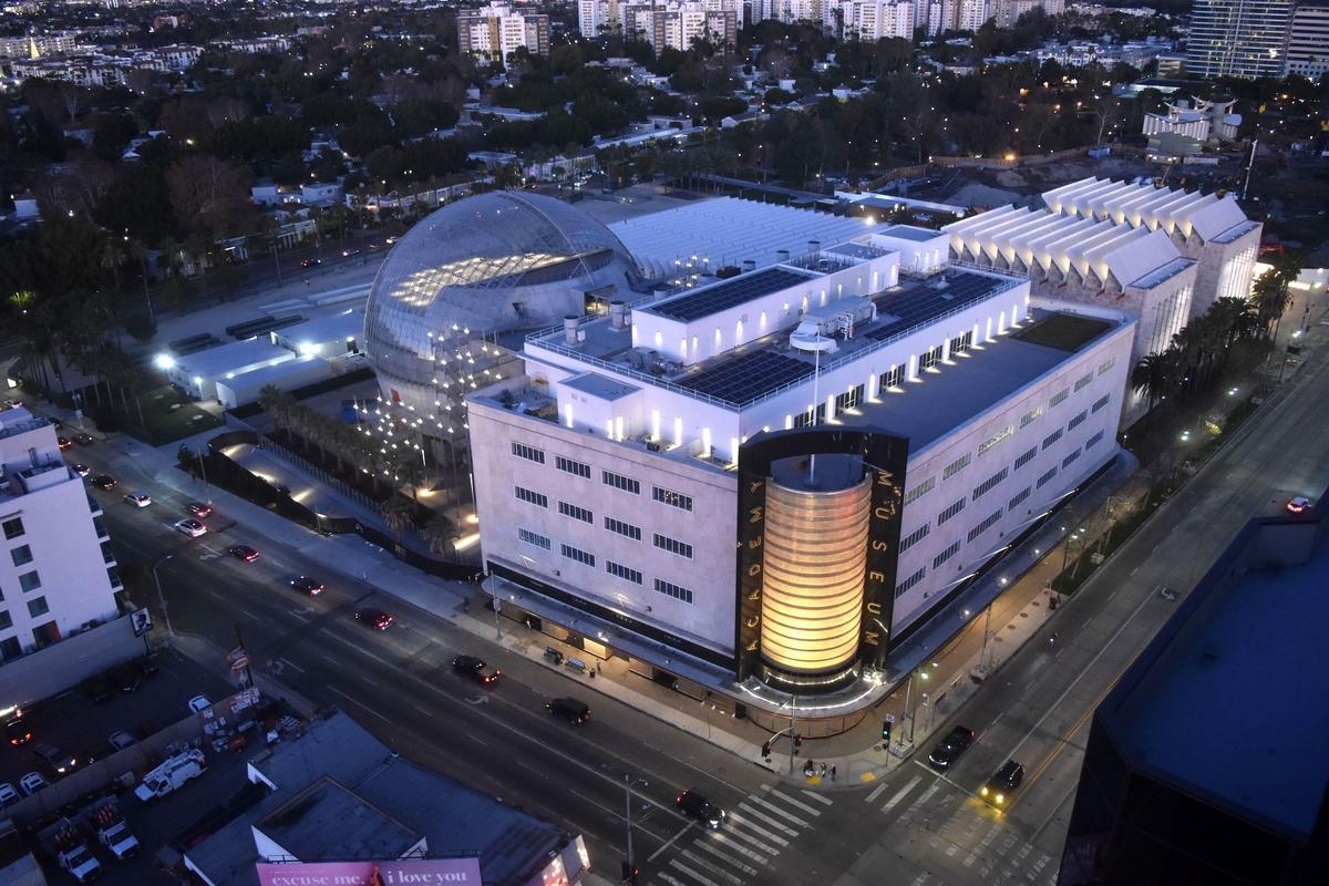 The Academy Museum of Motion Pictures' power is partly supplied by a roof-based solar panel array