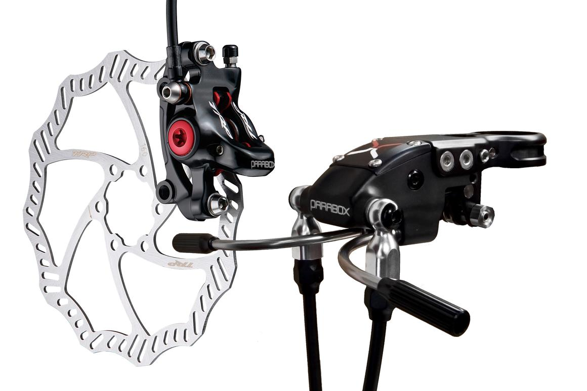 Parabox is a system that lets cyclo-cross racers add hydraulic disc brakes to their existing rim-brake-equipped bikes